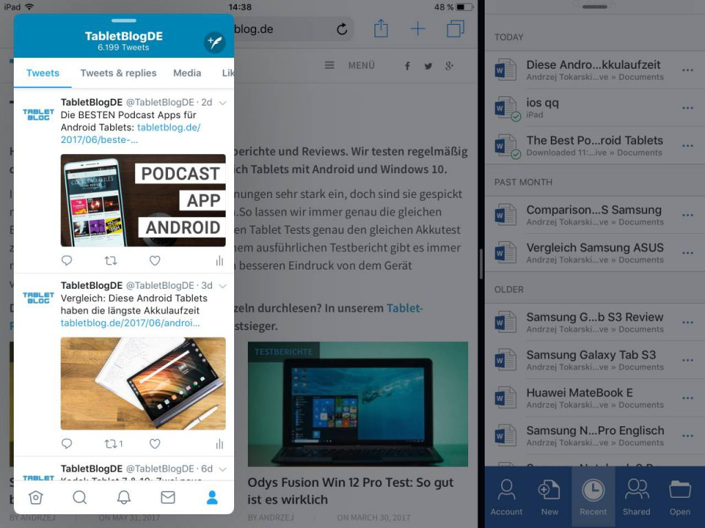 iOS 11 Multitasking