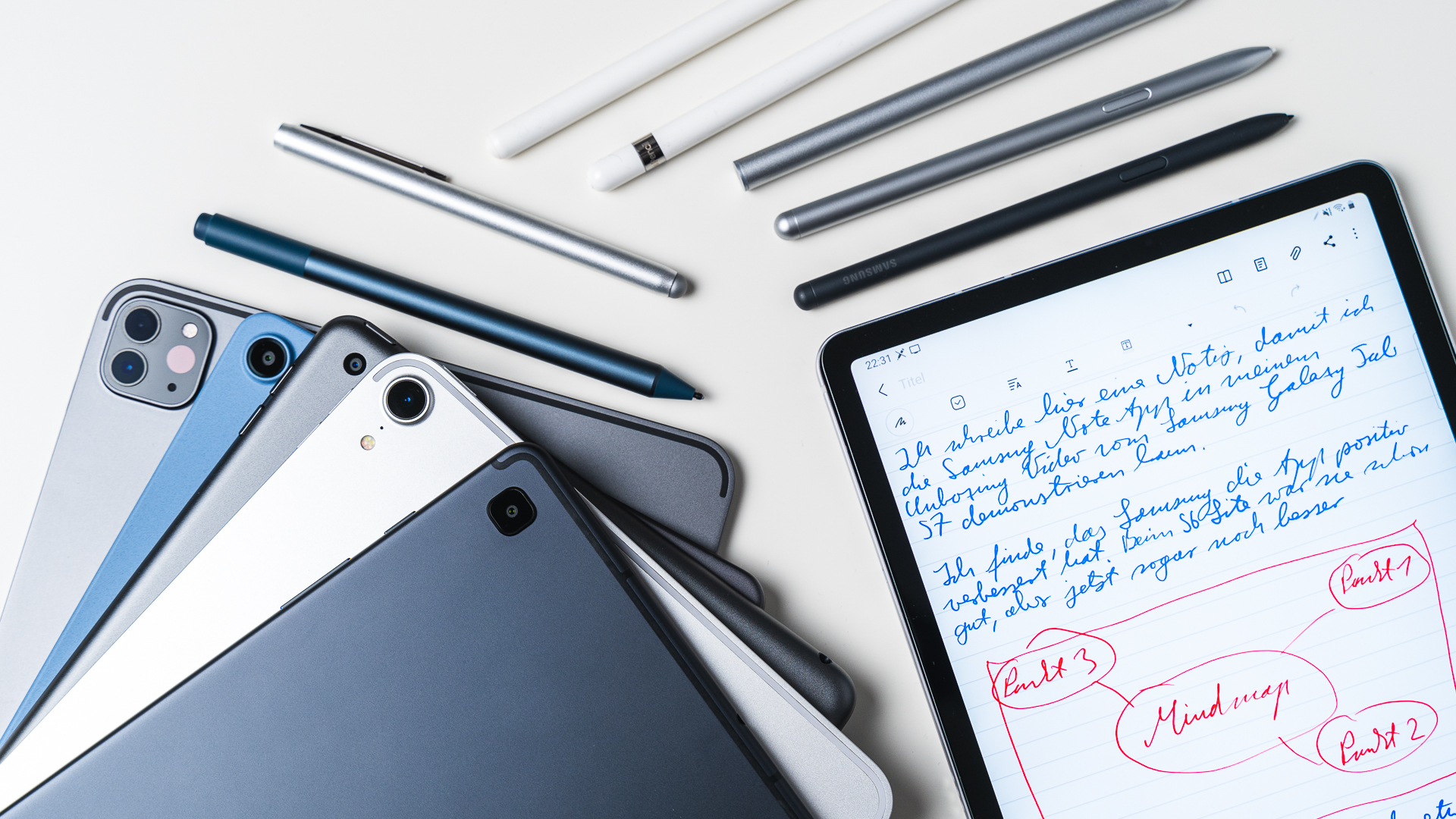 Tablets with a stylus