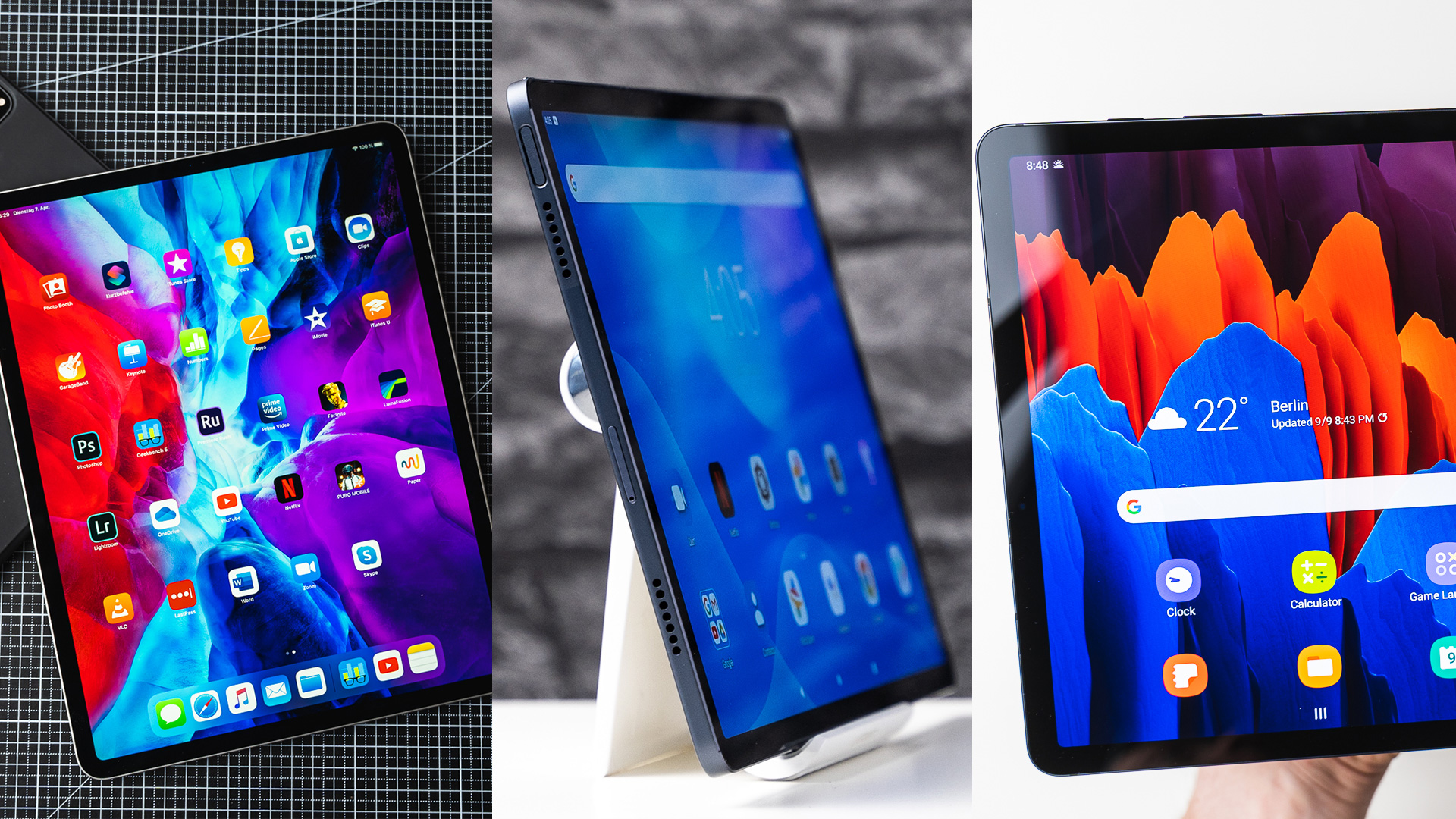 Tablets with large screens